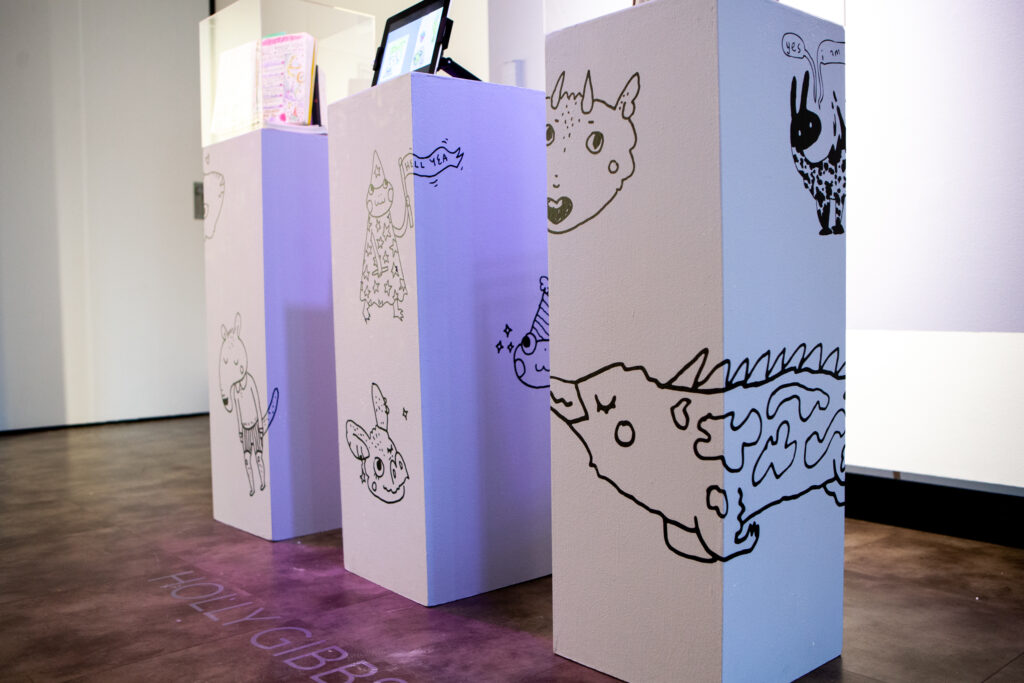White Pedestals with Lighthearted Animal Designs